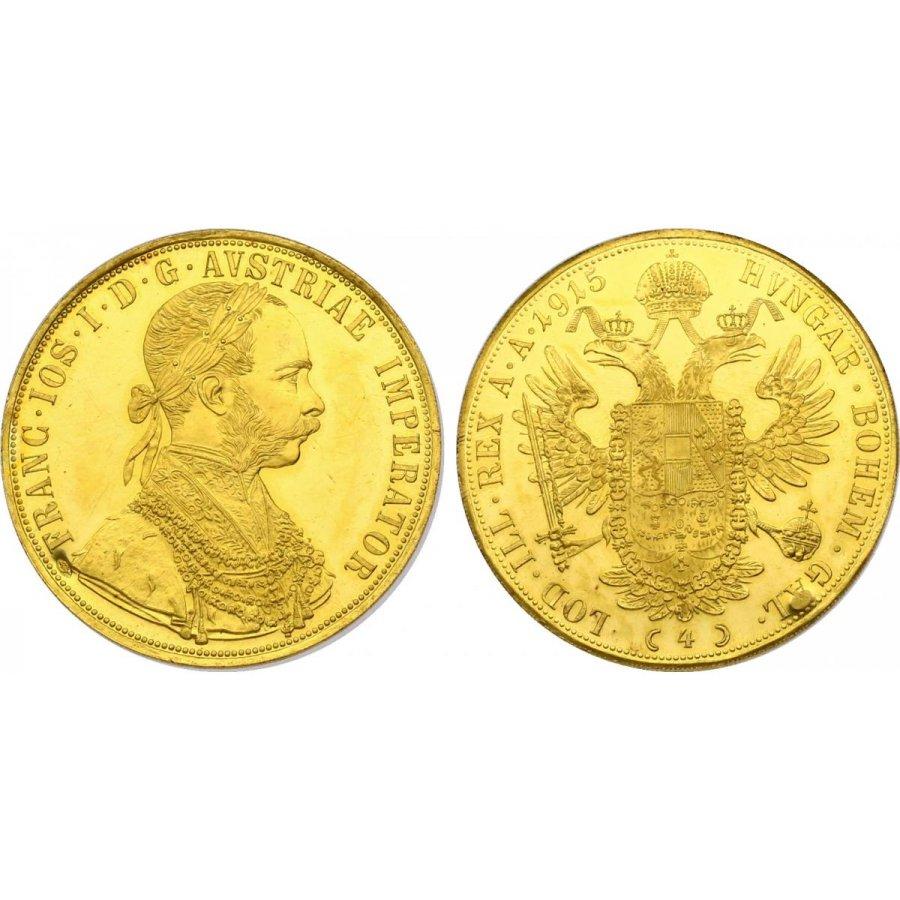 Münzen Franz Joseph 4 Dukaten 1915 Np 82500