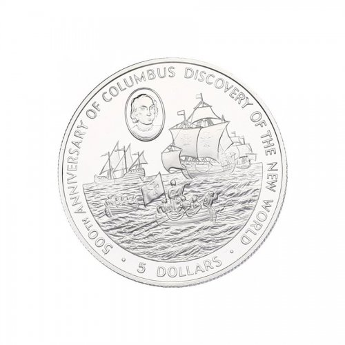 5 Dollar 1988 Columbus  KM.96