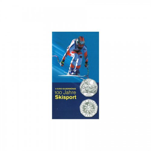 5 Euro - 100 Jahre Skisport hdgh. im Blister & Miniblister