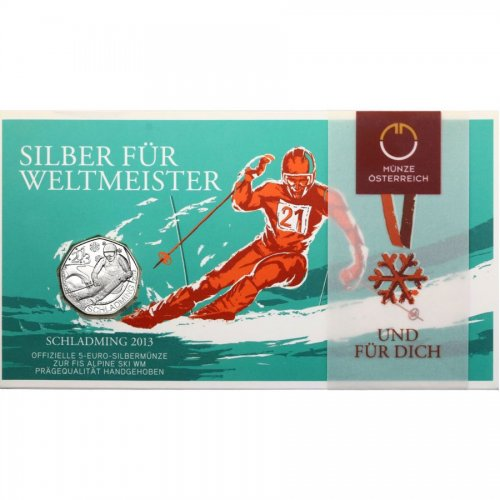 5 Euro - Schladming 2013 2012 hdgh. im Blister
