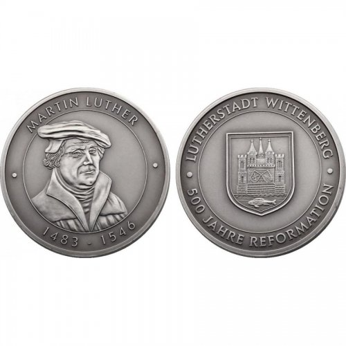 CuNi-Medaille 1983 Martin Luther stgl.