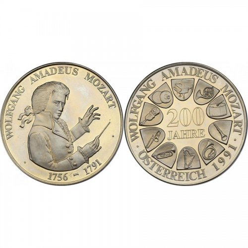 CuNi-Medaille 1991 200. Todestag Mozarts pp
