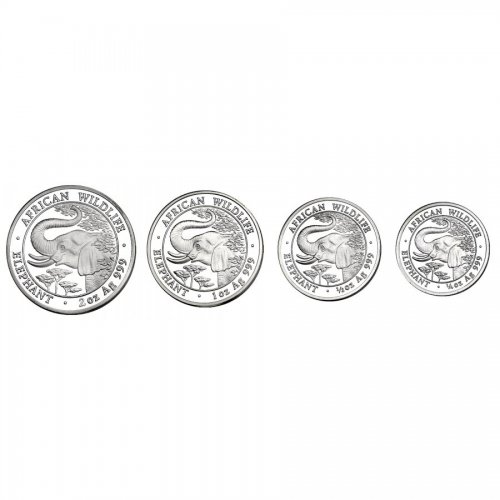 Set: 2000/1000/500/250 Shillings 2005 Elefant