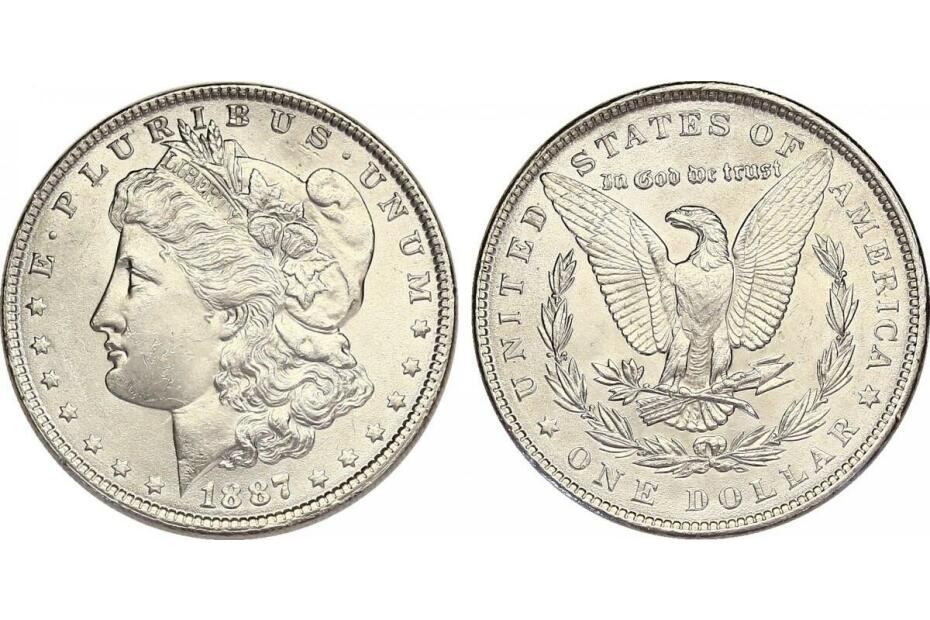 Dollar 1887 Morgan   f.stgl.