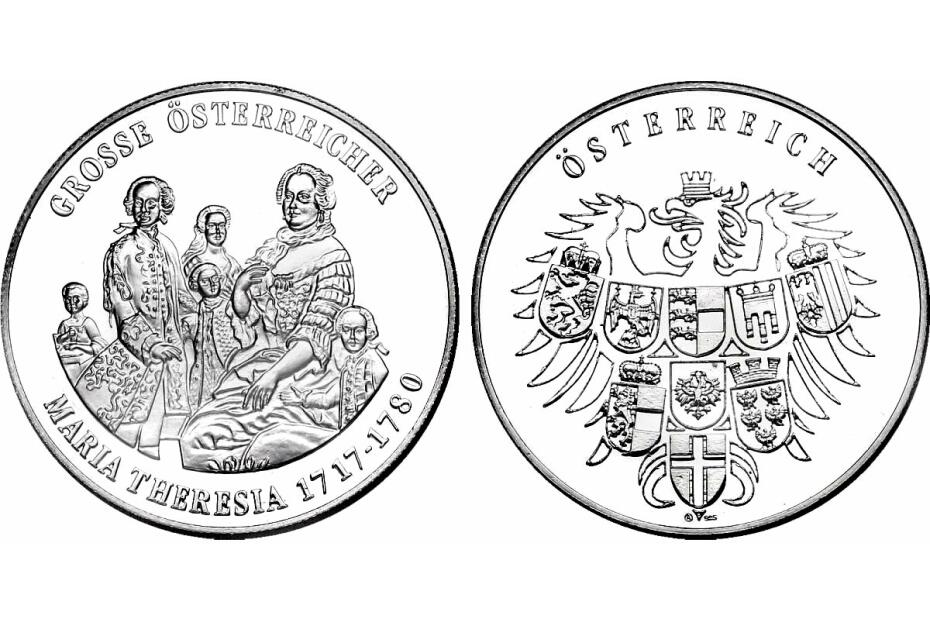 Ag-Medaille Maria Theresia (1717 - 1780) pp