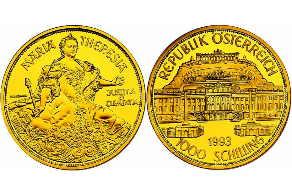 1000 Schilling 1993 Maria Theresia pp