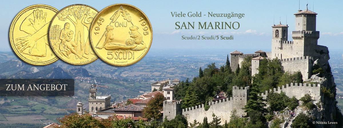 Goldmünzen San Marino