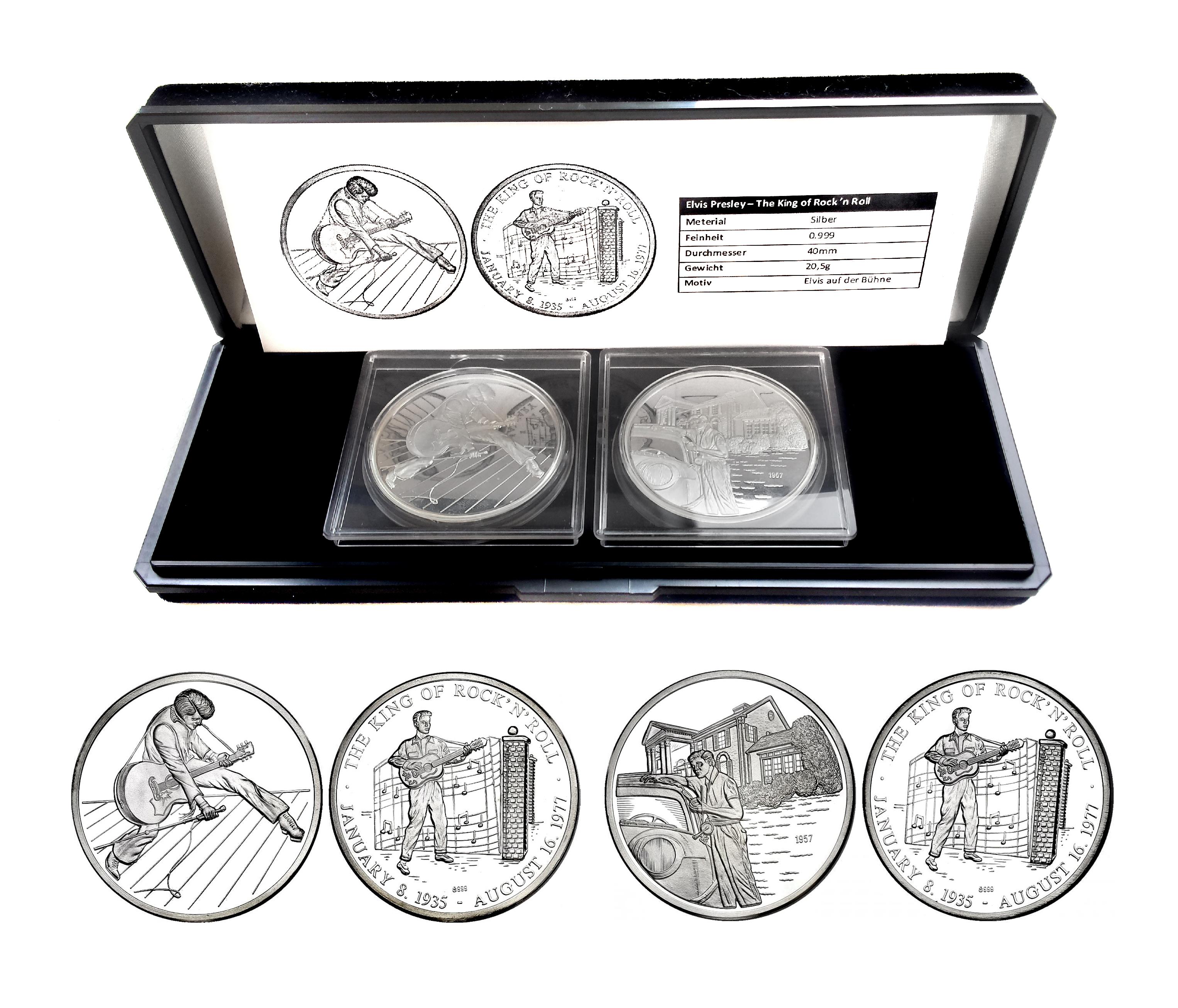 Elvis Presley Medaillen Set